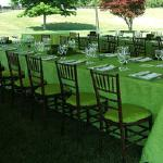 Custom chair covers completes this refined look